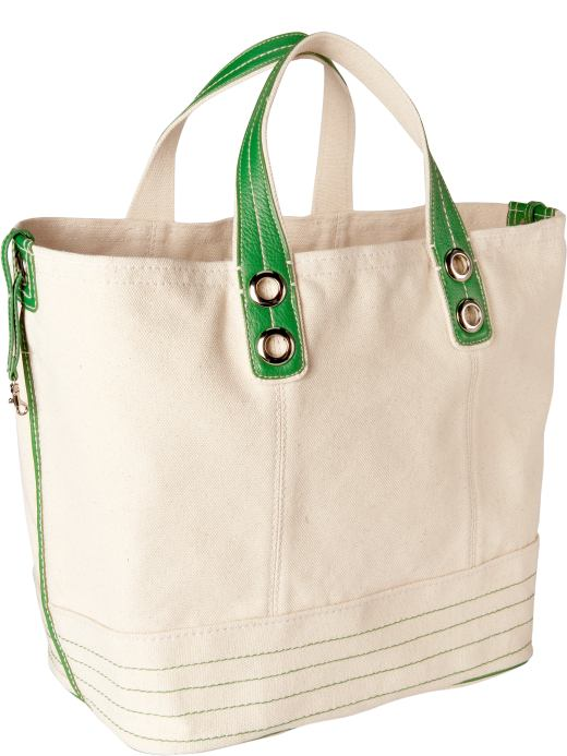 Women: Womens: Color-trimmed tote: Totes & Satchels: Handbags | Gap :  womens bags gap canvas color-trimmed tote
