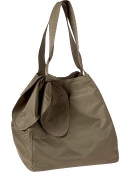 Women: Large nylon tote - rublo taupe