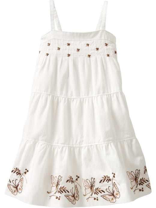 Baby Clothing: Baby Girl Clothing: Embroidered butterfly dress: Toddler 1-5 yrs Dresses | Gap :  girls clothing embroidered butterfly dress butterfly dress