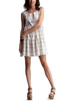 Women's Clothing: Women's Clothing: Striped tie-back dress: Dresses | Gap :  striped tie-back dress dress european collection grey