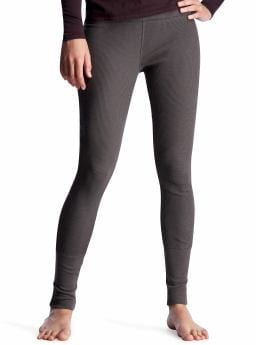 Women's Clothing: Women's Clothing: Waffle leggings: Loungewear New Arrivals | Gap :  elasticized waist waffle-knit modal grey