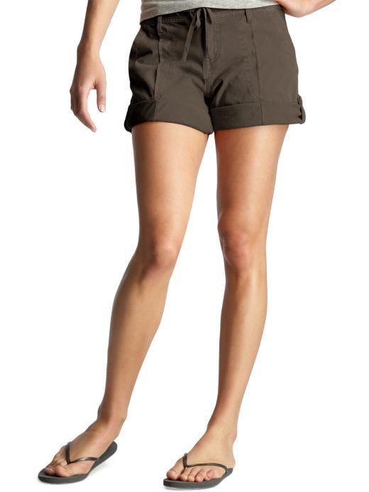 Women's Clothing: Women's Clothing: Jersey roll-up shorts: Activewear Sale | Gap :  drawstring brown shorts soft