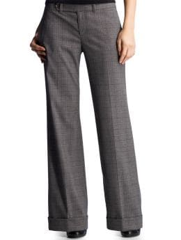 Women: The perfect plaid trouser - gray plaid