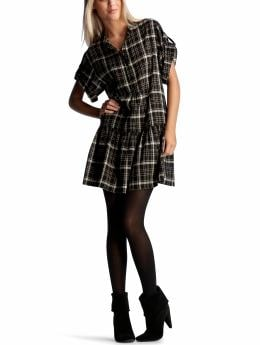 Black Plaid Dress