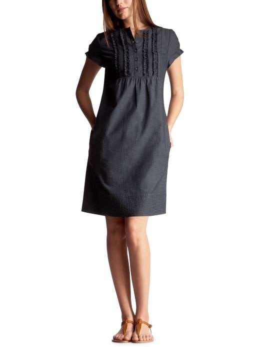 Women: Womens: Chambray ruffle dress: Dresses: Dresses | Gap