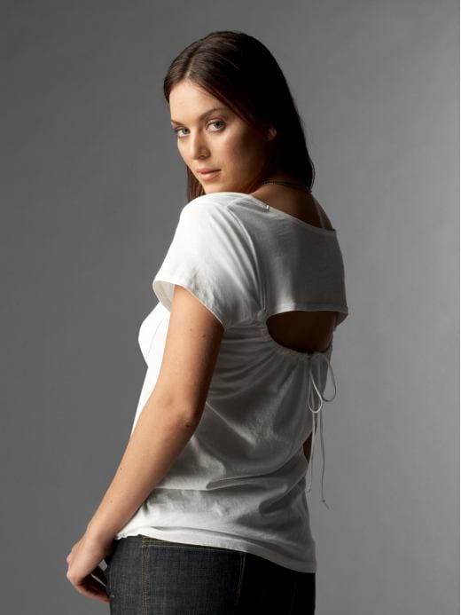 Women's Clothing: Women's Clothing: Gap (PRODUCT) RED™ open-back T: Women (PRODUCT) RED&#153 | Gap :  loose shirts white clothing