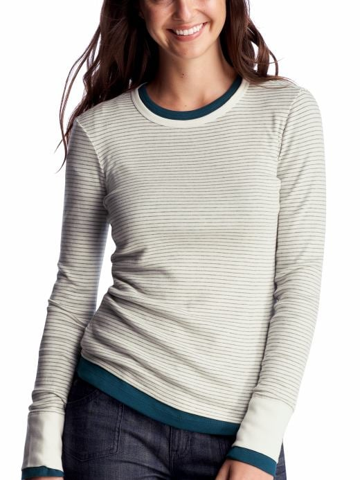 Women's Clothing: Women's Clothing: Striped supersoft long-sleeved T: Tops New Arrivals | Gap from gap.com