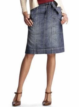 Women's Clothing: Women's Clothing: Tie-waist denim skirt: Bottoms New Arrivals | Gap :  tie-waist denim skirt denim jean womens