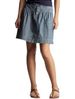 Women's Clothing: Women's Clothing: Chambray skirt: Bottoms New Arrivals | Gap