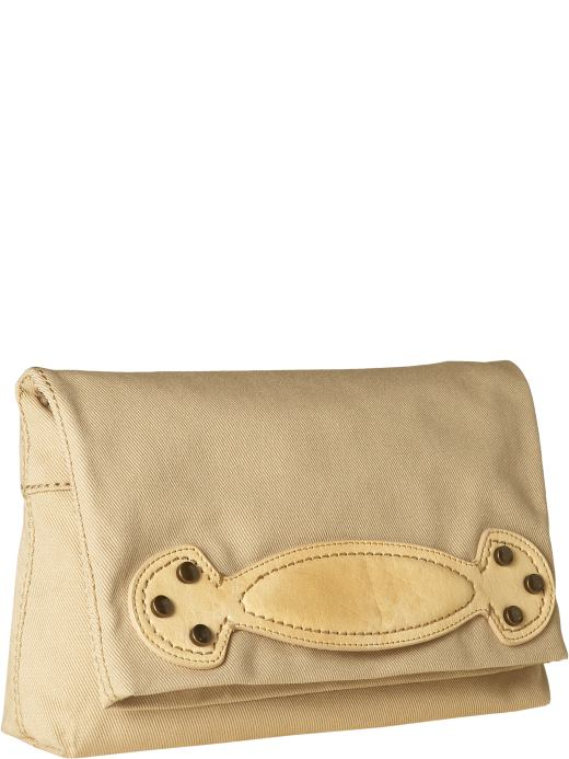 Women's Clothing: Women's Clothing: Studded twill clutch: Clutches Handbags | Gap :  handbags fall satchel summer