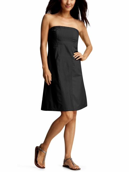 Women's Clothing: Women's Clothing: A-line pintuck dress: Dresses | Gap :  spring strapless clothing tube dress