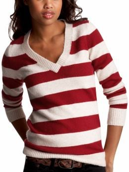 The wintersoft V-neck :  stripes sweater v neck