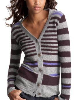 Women's Clothing: Women's Clothing: The striped cardigan: Tops New Arrivals | Gap :  wool sweater grey fall
