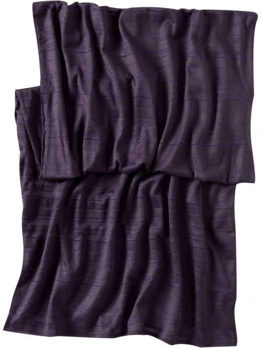 Women's Clothing: Women's Clothing: Subtle striped scarf: See All Styles Party Looks | Gap :  subtle striped scarf dark purple fall accessories