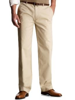 Clean relaxed fit plain front khakis from gap.com