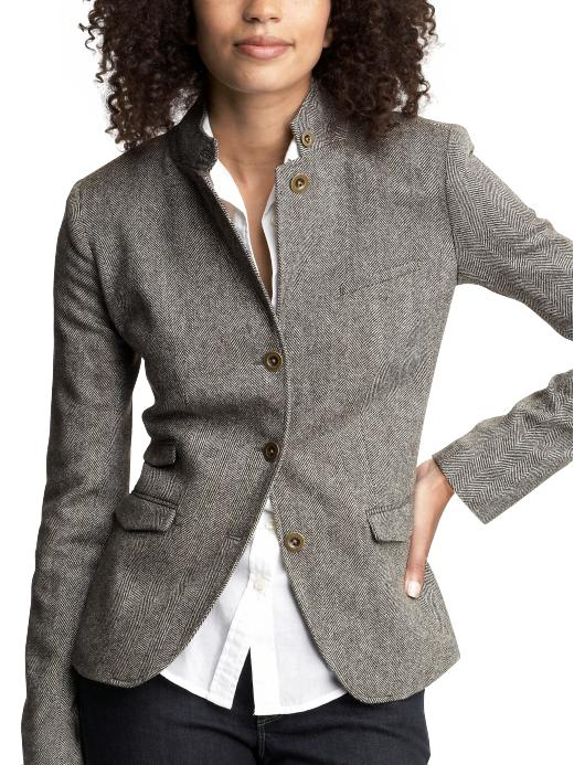 Gap Herringbone band blazer