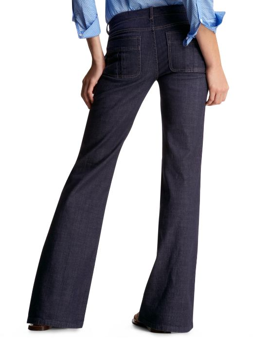 Women's Clothing: Women's Clothing: Sailor jeans: Trouser Jeans | Gap :  trouser dark denim retro
