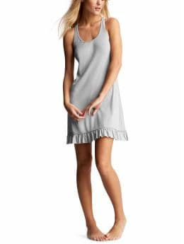 Women's Clothing: Women's Clothing: Ribbed ruffle-trim gown: Sleepwear New Arrivals | Gap from gap.com
