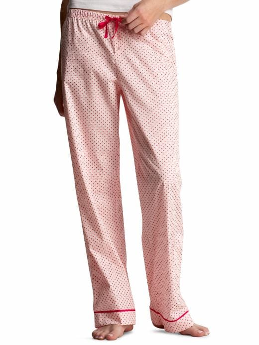Women's Clothing: Women's Clothing: Printed poplin pajama pants: Sleepwear New Arrivals | Gap :  light blue cotton white clothing