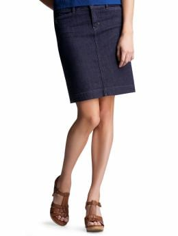 Women: Denim pencil skirt - dark