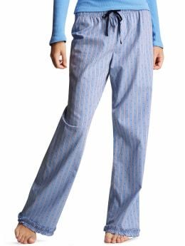 Women's Clothing: Women's Clothing: Ruffle pajama pants: Bottoms Sleepwear | Gap :  gap body fashion pajama pants gap