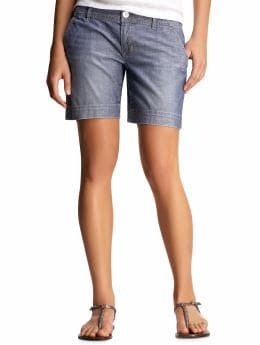 Women's Clothing: Women's Clothing: Chambray shorts: Shorts Shorts - 25% Off | Gap :  spring chambray slant pockets clothing