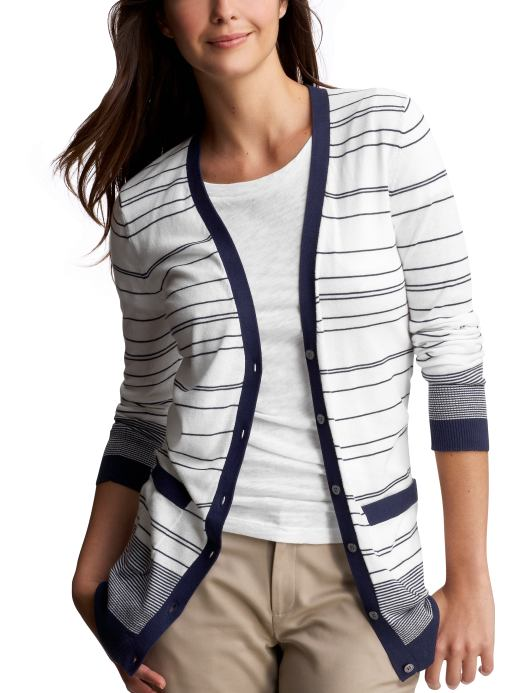 Women's Clothing: Women's Clothing: Striped boyfriend cardigan: Day-to-Night Styles | Gap from gap.com