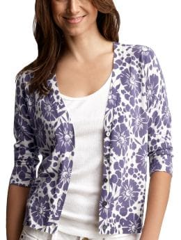 The floral summer cardigan