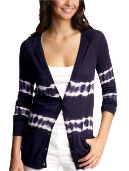 Women's Clothing: Women's Clothing: Tie-dye cardigan: Trend: Blue & White | Gap :  spring white clothing womens