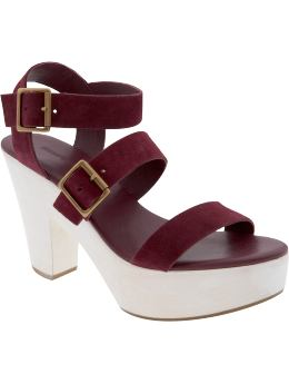 Women's Clothing: Women's Clothing: 3-strap platform sandals: Sandals Shoes | Gap :  spring 2009 collection shoes gap the gap