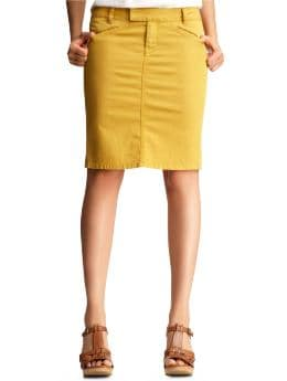 Women's Clothing: Women's Clothing: Colored denim pencil skirt: Skirts Dresses & Skirts | Gap