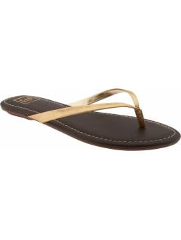 Women's Clothing: Womens: Sleek leather flip-flops: Flip Flops Shoes | Gap