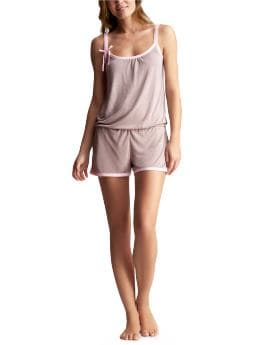 Women's Clothing: Women's Clothing: Supersoft bow romper: Sleepwear New Arrivals | Gap :  gapbody womens clothing womens soft