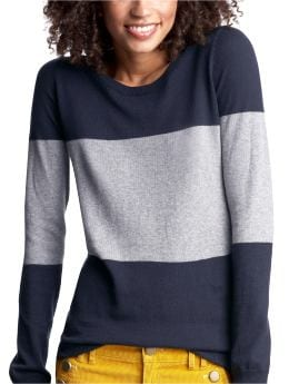 Women's Clothing: Women's Clothing: Silk-blend colorblock sweater: Tops New Arrivals | Gap