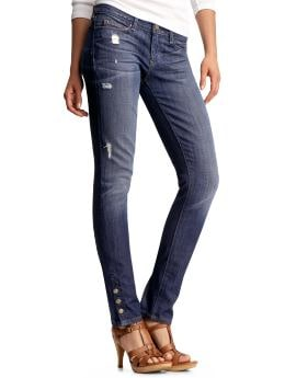 Women's Clothing: Women's Clothing: Always skinny destructed button jeans: Limited Edition Jeans | Gap from gap.com