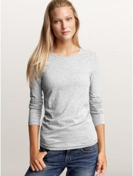 Women's Clothing: Women's Clothing: Pure body long-sleeved T: In for the Night 24-7 Cozy Chic | Gap :  gapbody tshirt heather grey womens clothing