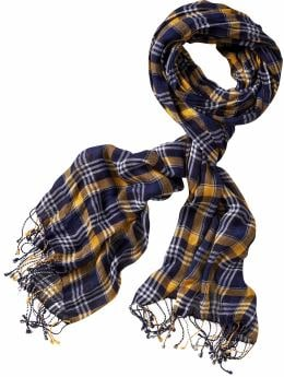 Women's Clothing: Women's Clothing: Lightweight plaid scarf: Accessories New Arrivals | Gap :  blue scarf womens clothing lightweight