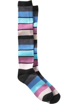 Women's Clothing: Women's Clothing: Striped knee-high socks: Accessories New Arrivals | Gap :  womens aqua purple multicolor