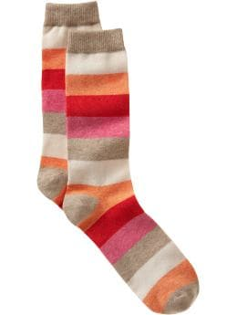 Women's Clothing: Women's Clothing: Colorblock socks: New Arrivals | Gap :  tan orange womens clothing warm colors