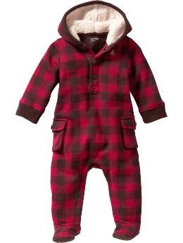Baby Clothing Baby Boy Clothing Cargo plaid hoodie one piece Copper Mountain Gap from gap.com
