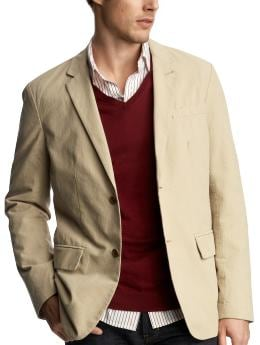 Khaki yard-dyed blazer from gap.com