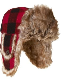 Women's Clothing: Women's Clothing: Buffalo plaid trapper hat: Women Shop the TV Spots | Gap :  cold weather plaid winter lined