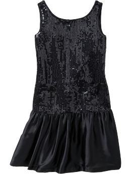 GapKids: Sequin dress - true black