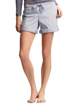 Women's Clothing: Women's Clothing: Striped roll-up shorts: Sleepwear New Arrivals | Gap :  gap body pastel stripes white