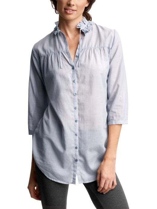 Women's Clothing: Women's Clothing: Chambray lounge shirt: Gowns Sleepwear | Gap from gap.com