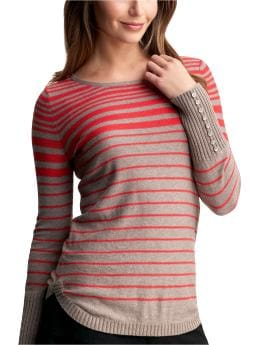 Women's Clothing: Women's Clothing: Striped crewneck sweater: Tops New Arrivals | Gap :  womens peach scoop neck beige