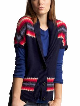Women's Clothing: Women's Clothing: Navajo cropped cardigan: Women Shop the TV Spots | Gap :  womens navy multicolor stripes