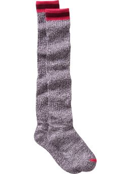 Women's Clothing: Women's Clothing: Marled knee-high socks: In for the Night 24-7 Cozy Chic | Gap :  reinforced toe polyester womens clothing womens