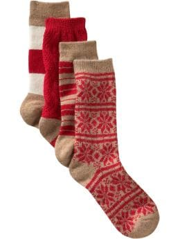 Women's Clothing: Women's Clothing: Winter crew socks (set of 4): Women Shop the TV Spots | Gap :  womens stripes rayon angora