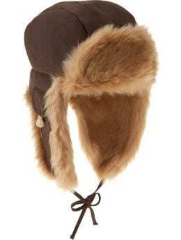 Women's Clothing: Women's Clothing: Faux-fur trapper hat: Accessories New Arrivals | Gap :  cold weather womens light brown